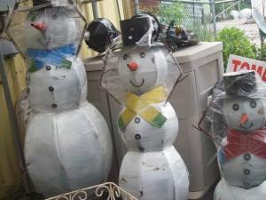 Snow Man Holiday Items